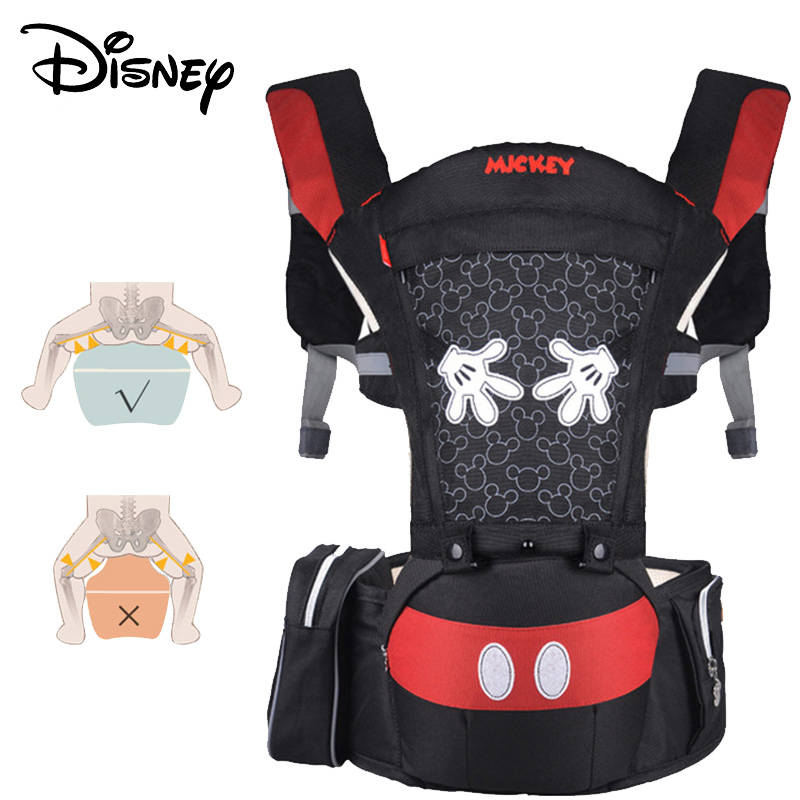 Disney Cartoon Multifunctional Front Facing Stool Baby Carrier Infant Baby Sling Backpack Mickey Breathable Toddler Detachable