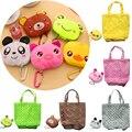 Складная сумка для хранения, многоразовая сумка для покупок с животными, сумка для продуктов, сумка-тоут, симпатичный мультяшный подвесной ...