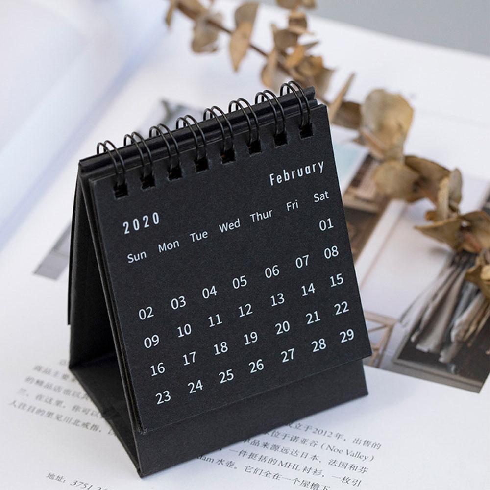 1PC 2020 Planner Table Calendar Agenda Weekly Planner Monthly To Do List Desktop Calendar Office Supplies