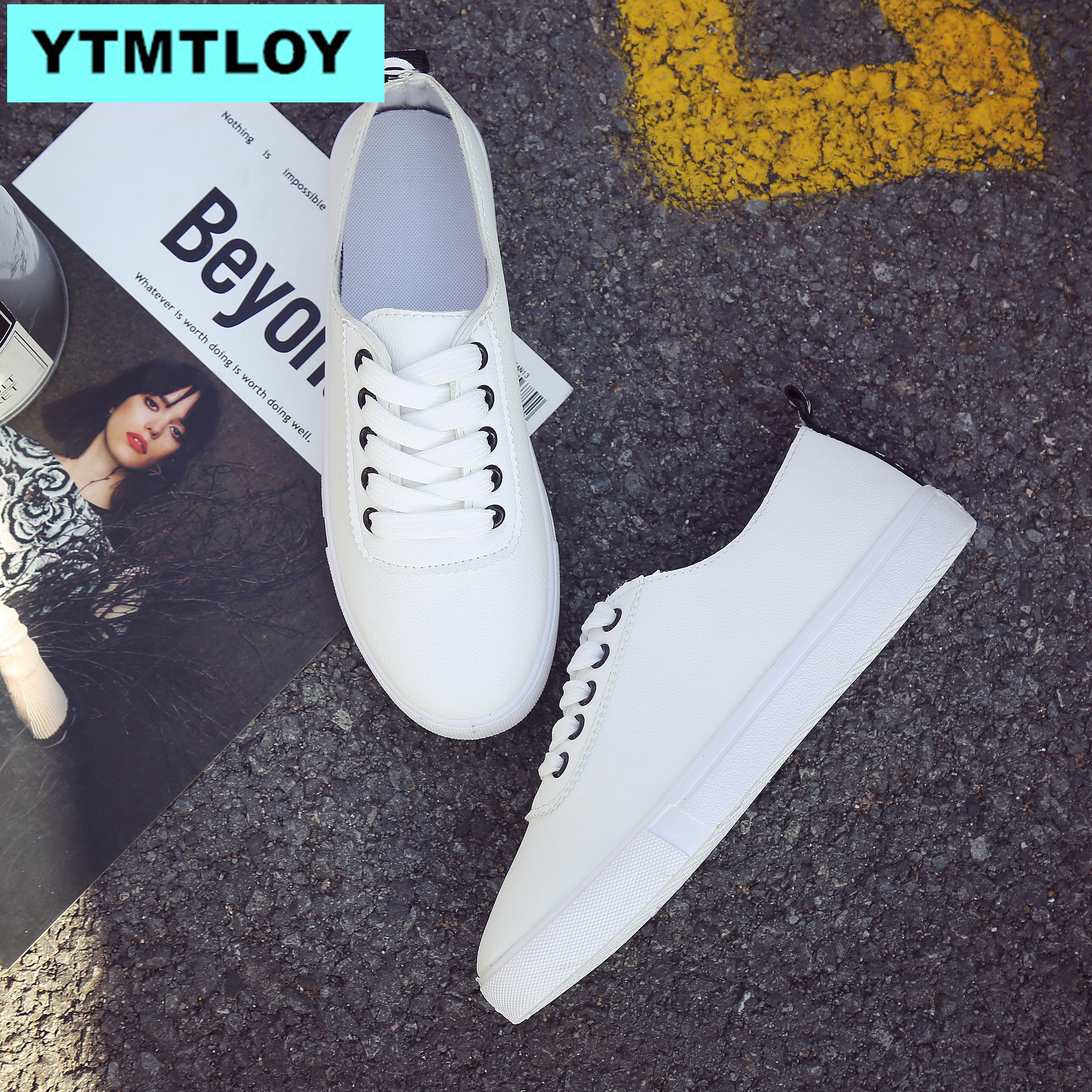 Korean Fashion Platform Sports Shoes New Autumn Women's Shoes Casual Shoes Wild Belt Flat With Women Casual Small White Shoes Ro