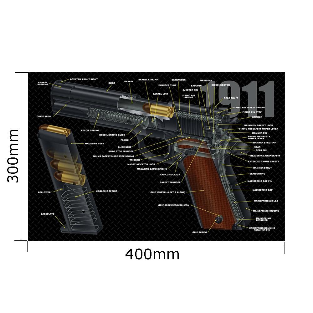 Gun Cleaning Rubber Mat Tactical Accessory Beretta PX4 Mouse Pad For Gen5 Glock 1911 P320 Mouse Mat AR15 AK47