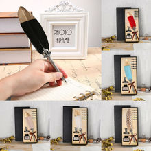 Vintage Feather Quill Dip Pen Fountain Pens With Ink +5 Nibs Set Stationery Gift excellent antique quill feather dip pen writing ink set stationery gift box with 5 nib wedding gift quill pen fountain pen