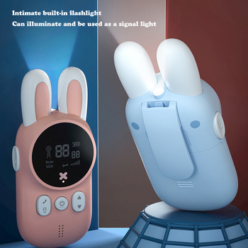 2pcs/Set Children's Walkie Talkie Kids Electronic Spy Gadgets Handheld Transceiver 3KM Range UHF Radio Interphone Toys For Boys 5