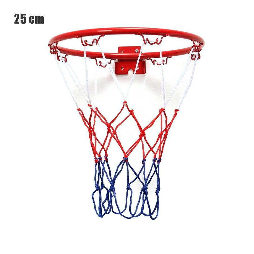 25CM Steel Hanging Basketball Wall Basketball Rim With Screws Mounted Goal Hoop Rim Net Sports Netting Indoor Outdoor
