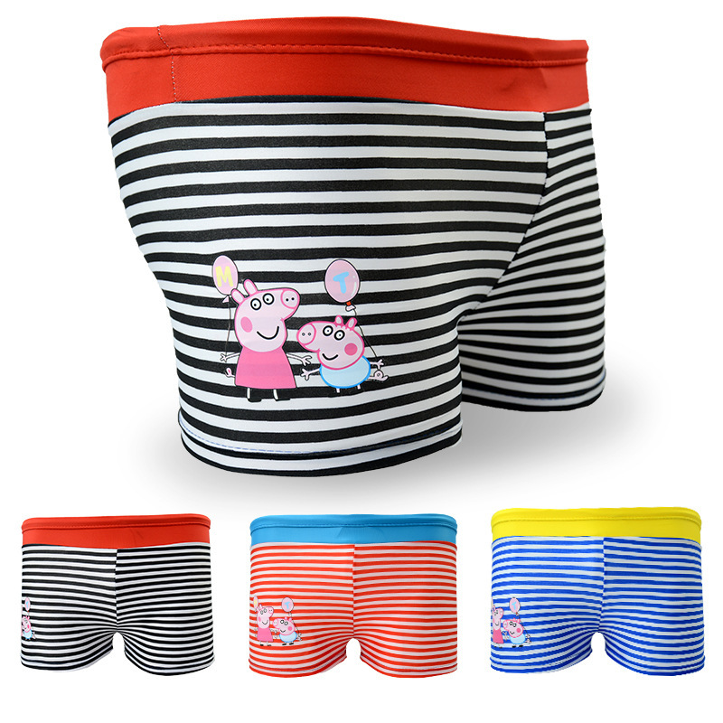 2018 New Style Children Swimming Trunks Korean-style Fashion Cute Cartoon Piggy  Swimming Trunks Water Park Swimming Pool