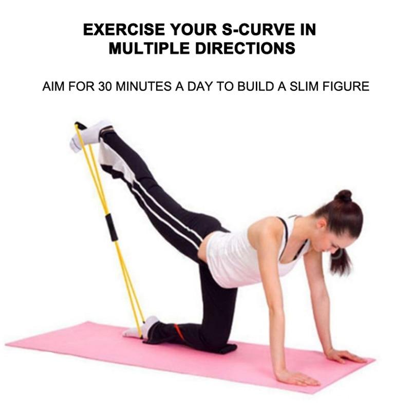 5 pcs sets Pilates Workout Massage Ball Gym training Fitness Equipment Yoga Block Rubber Crossfit Pull
