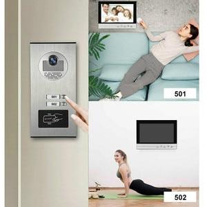 "Image 2 - 9 ""Pantalla de Color de Video Intercom sistema de teléfono de puerta 2 monitores 1 + RFID timbre Cámara 2 casa apartamento envío gratis"