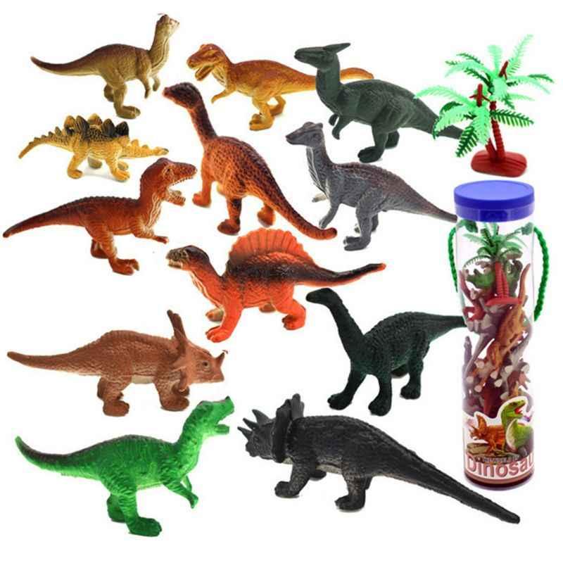 Assorted Realistic Small Dinosaur Figure Model 12 Pcs Mini Dinosaur Play Set