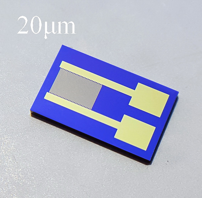 20um Silicon-based Interdigital Electrode Capacitor Array MEMS Gas Biosensor Photoelectric Detection High Stability