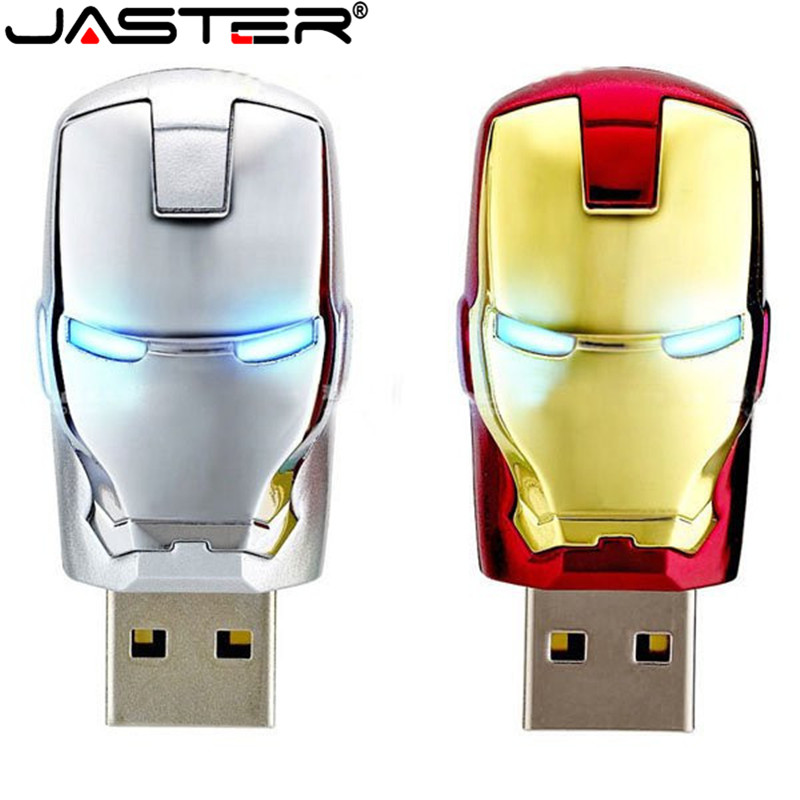 JASTER Large Capacity Iron Man Pendrive Metal Waterproof Pen Drive 16gb 32gb 64gb Usb Stick Usb Flash Drive U Disk Gift Cle Usb