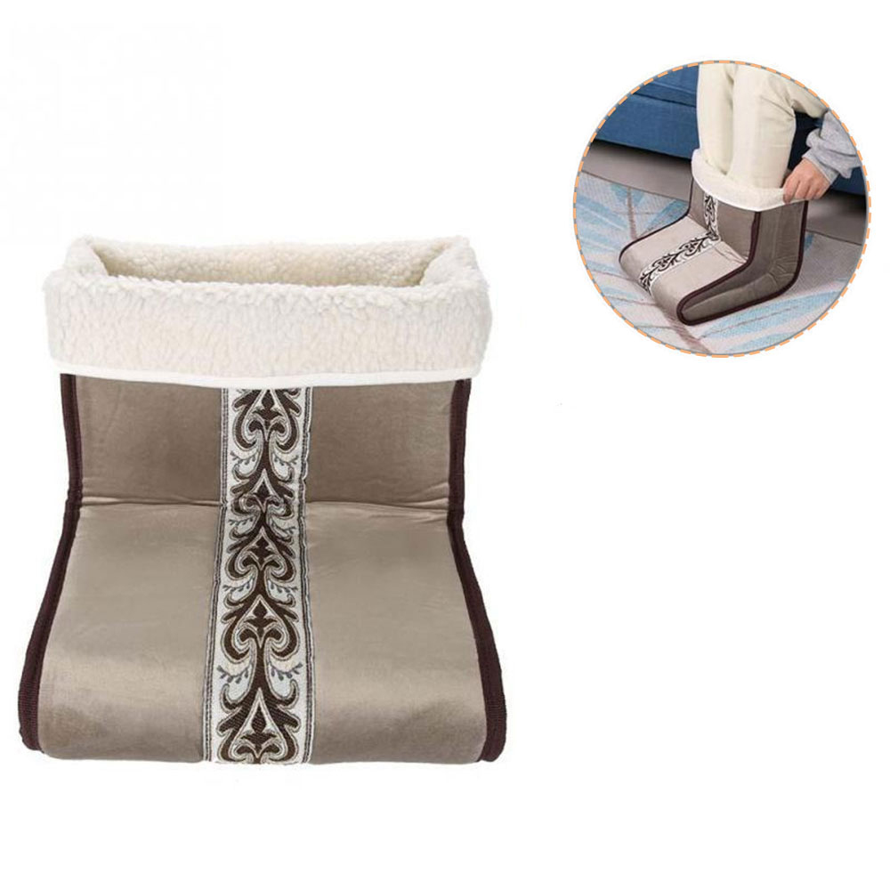Electric Warm Foot Warmer Detachable Washable Foot Warmers Heated Plug Type Warm Cushion With Heat Control Settings Heating Pad