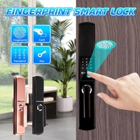 Smart 4 Ways Door Fingerprint Lock Digital Password Touch Electric Lock Anti theft Security Access Control System Kit Home