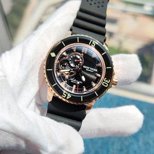 Image 2 - Мужские часы для дайвинга с нейлоновым ремешком, цвета розового золота