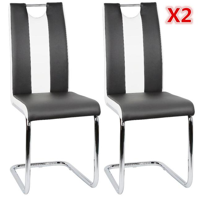 2PCS/set Of Bow-shaped Dining Chair Safety Non-slip Foot Pad Single Hole Backrest Thickened Steel Bar Home Furniture Chair HWC