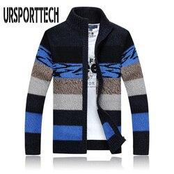 Haute qualité Cardigan pull hommes col montant hiver laine chandails mode Cardigans hommes chandails manteau marque vêtements pour hommes