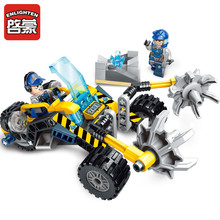 Legoingly Construction Engineering Building Block Technic Kyanite Squad Stone Chopper 2 Figure 128pcs Educational Bricks