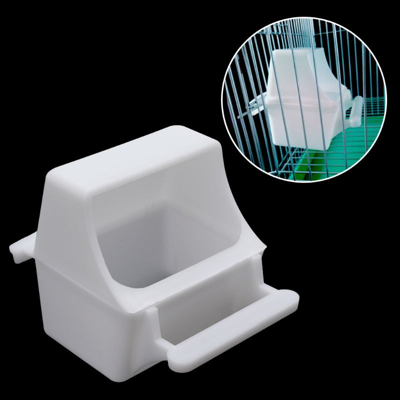 Bird Feeder Anti Splash Feeding Bowl Box Splash Proof Cage Parrot Pigeon Budgie Equipment Plastic Drink Water D08F