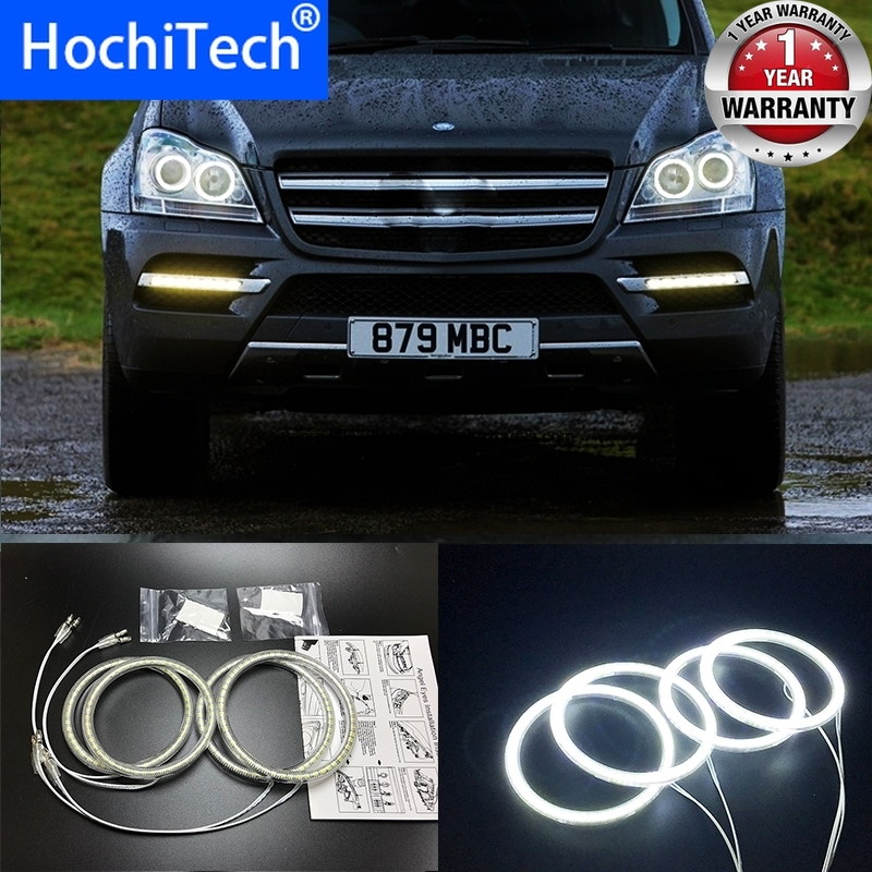 HochiTech for Mercedes Benz GL Class X164 GL450 2007 2012 Ultra bright SMD white LED angel eyes 2600LM halo ring kit day light