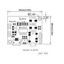 5 в Mp3 без потерь Mp3 декодер плата 3,5 мм Модифицированная аудио пластина 5,0 стерео схема приемник модуль декодеры