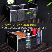 Car Black Organizer Box Large Capacity Folding Storage Bag Trunk Stowing and Tidying For Mercedes Benz