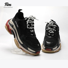 Triple S leather and fabric trainers BALENCiAGA EN