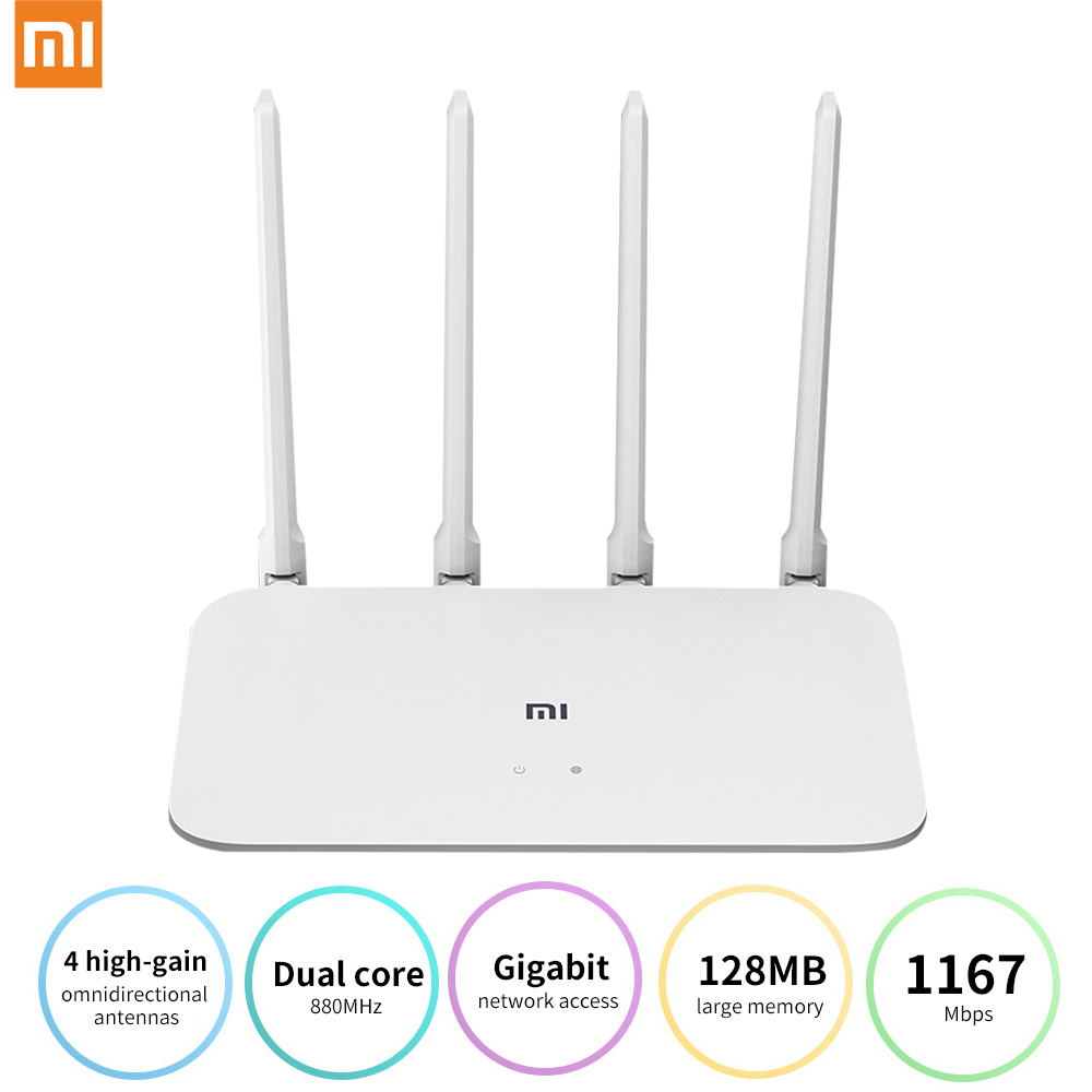 Xiaomi Router 4A Gigabit Version 2.4GHz 5GHz WiFi 1167Mbps WiFi Repeater 128MB DDR3 High Gain 4 Antennas Network Extender