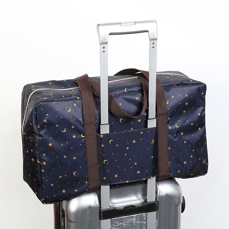 Travel Luggage Duffle Bag Lightweight Portable Handbag Floral Pattern Large Capacity Waterproof Foldable Storage Tote