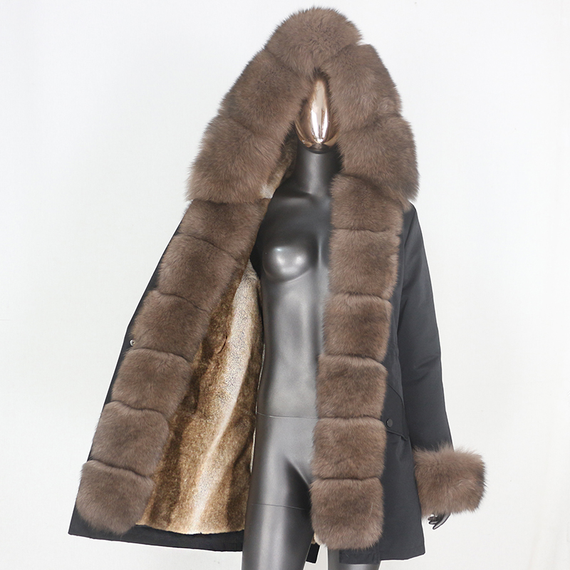 H88f49764fdd14d72908342ec940744c6z CXFS 2021 New Long Waterproof Parka Winter Jacket Women Real Fur Coat Natural Raccoon Fur Hood Thick Warm Streetwear Removable