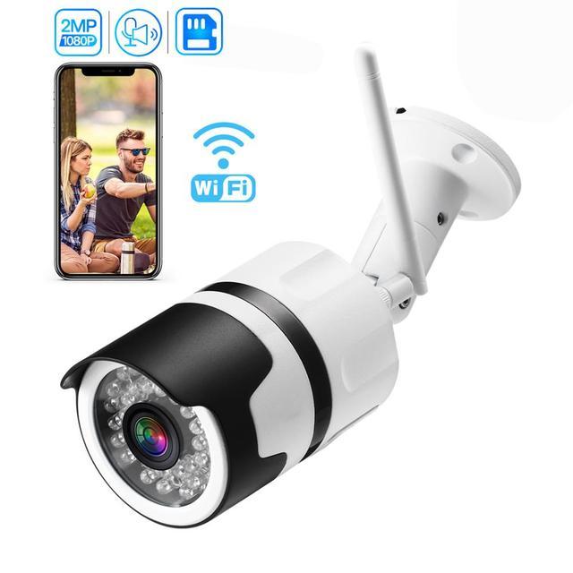 Inesun [2020 新加入] 屋外ワイヤレスセキュリティカメラ 1080 1080p 防水無線 lan ip カメラホーム弾丸カメラ ios android アプリ