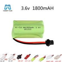 NI-CD 3.6 V 1800 Mah Aa Oplaadbare Batterij Voor Afstandsbediening Auto Boot Elektrische Speelgoed Schip Robot Afstandsbediening Speelgoed 3.6 V 1800 Mah Nicd