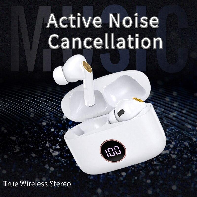 Anc active noice cancelamento sem fio fones de ouvido para xiaomi huawei iphone design de moda