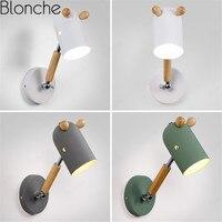 Rotatable Parede moderna Luz de Madeira Nórdica Cavalo Modelagem Lâmpadas de Parede para Sala de estar Quarto Estudo Luminárias Led Luzes do Espelho