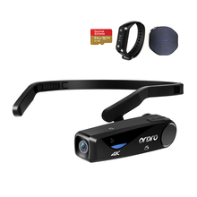 Ordro EP6 Mini Camcorder 4K 24FPS FPV Wearable Vlog Camera with Remote 64GB Memory Card, for YouTube Blogger Video Filming