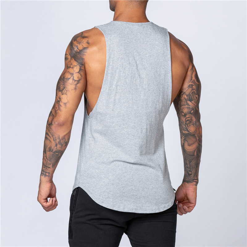 Workout Gym Mens Tank Top Vest Muscle Sleeveless Sportswear Shirt Stringer Fashion Clothing Bodybuilding Singlets Cotton Fitness 3