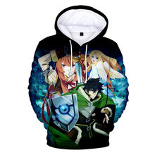 3D Anime The Rising Of The Shield Hero Hoodie Boys Girls Spring Autumn Sweatshirt Cartoon Long Sleeve Kids Children Jacket Coats(China)