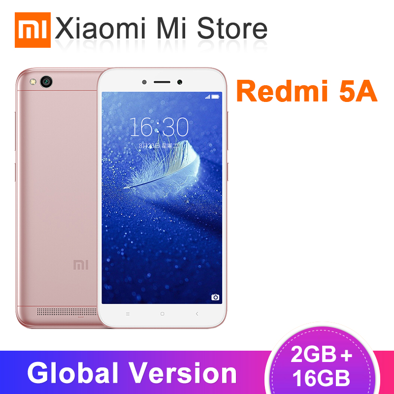 Global Version Xiaomi Redmi 5A 5 A 2GB RAM 16GB ROM Mobile Phone Snapdragon 425 Quad Core 5.0