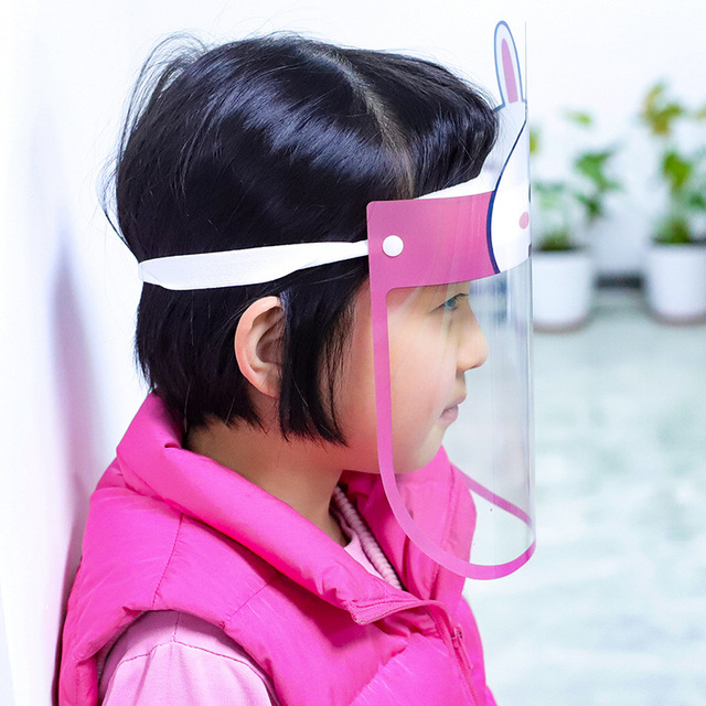 Kids Children Clear Anti-fog Dust-proof Protective Visor Full Face Hat Covering Mask Shield Eye Protection Anti-fog Mask 2