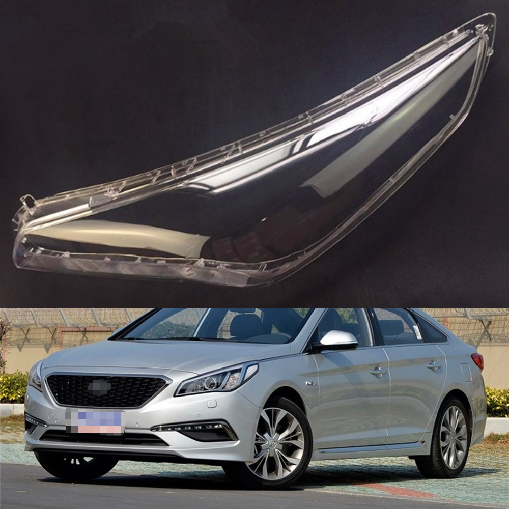 Car Headlight Lens For Hyundai Sonata 2015 2016 Headlamp Cover Car  Replacement   Front Auto Shell Cover