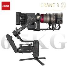 Zhiyun guindaste 3s 3-axis cardan handheld sem fio 1080p fhd estabilizador de câmera de transmissão de imagem para câmera dslr cardan
