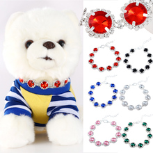 лучшая цена Bling Rhinestone Satellite Stone Princess Dog Cat Collar Fashion Special Pet Multi-size Necklace For Medium Small Dog Cat D40
