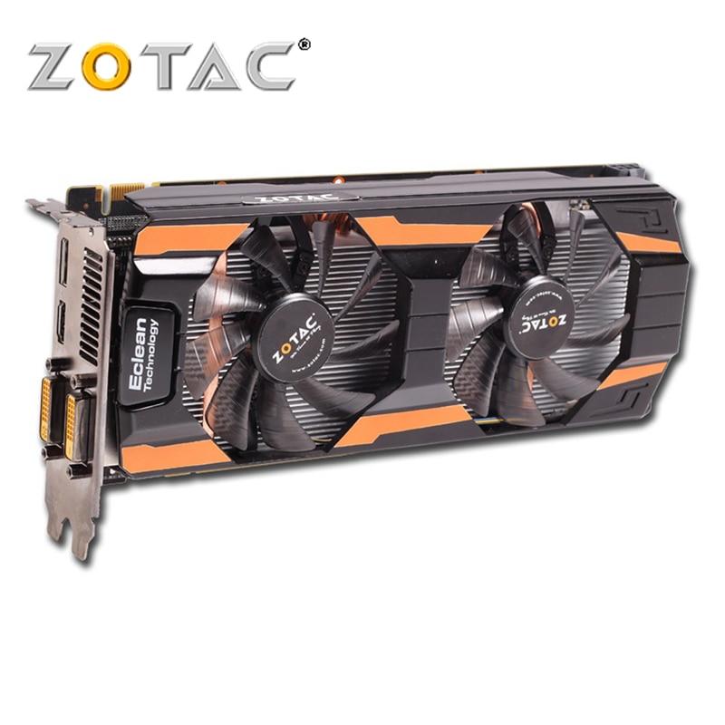 Zotac gtx660 2g d5 2gb placas gráficas thunderbolt edição gpu 192bit gddr5 placa de vídeo mapa gtx660 2gd5 dvi hdmi dp gtx 660 usado