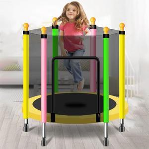 Круглый детский мини-батут, подкладка-сетка, защита от прыжков