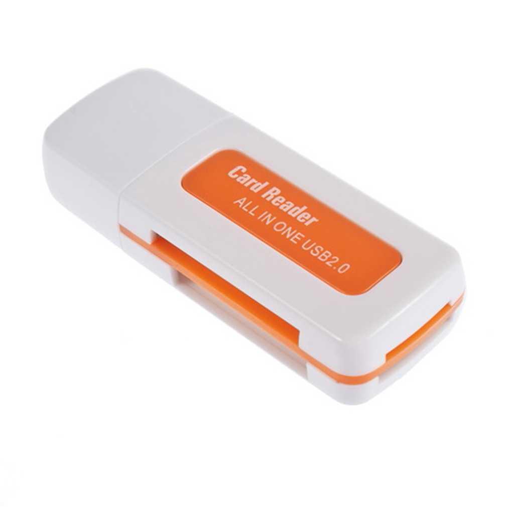 1 قطعة USB 2.0 4 في 1 ذاكرة متعددة قارئ بطاقات ل M2 ل SD SDHC DV مايكرو SD TF بطاقة الجملة البرتقال انخفاض الشحن