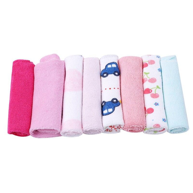 8PCS/Set Cotton Newborn Baby Towels Saliva Towel Nursing Towel Baby Boys Girls Bebe Toalha Washcloth Handkerchief
