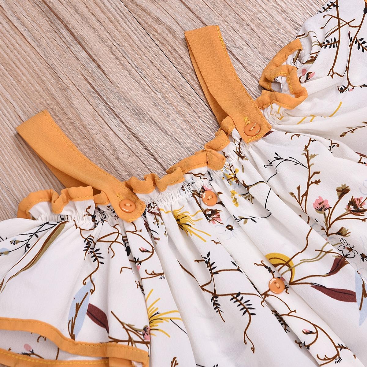 Children's Clothing Summer 2020 Girls Strap Tassel Top Flared Pants Suit D09.29 5