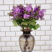 New 1Pc Artificial Lilac Fake Flower Garden Wedding Bouquet Party Home Cafe Decor Lifelike Realistic Fadeless