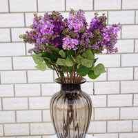 New 1Pc Artificial Lilac Fake Flower Garden Wedding Bouquet Party Home Cafe Decor Lifelike Realistic Party Decor Fadeless