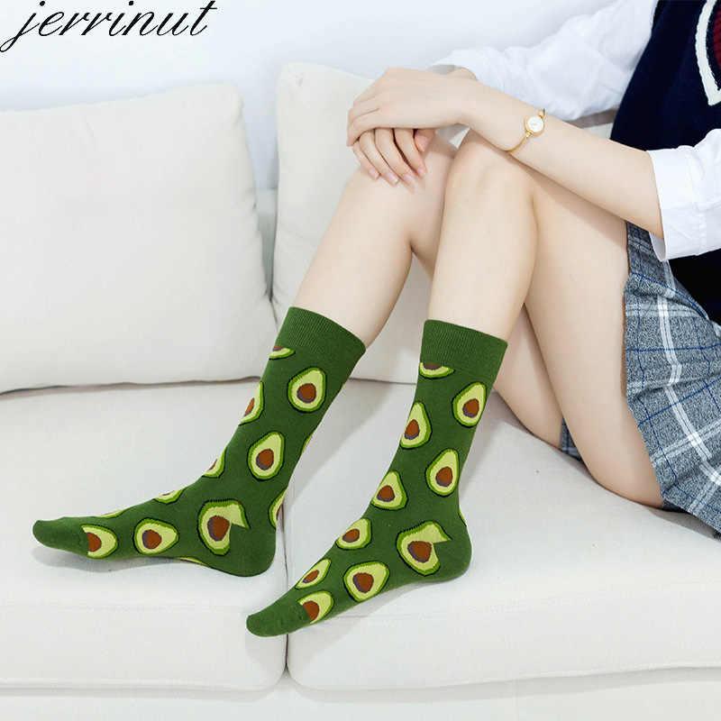 Mulheres Meias Com Impressão Engraçado Feliz Arte Bonito Morno do Inverno Meias Com Abacate Alimentos Sushi Algodão Moda Harajuku Unisex Sock 1 Par