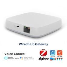 Tuya Hub de enlace inteligente ZigBee 3,0, wifi, Control remoto inalámbrico mediante aplicación inteligente, funciona con asistente de Google Alexa