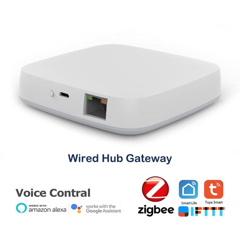 Умный шлюз Tuya ZigBee 3,0, беспроводной хаб с поддержкой Wi-Fi и мостом для умного дома, работает с приложением Alexa и Google Assistant
